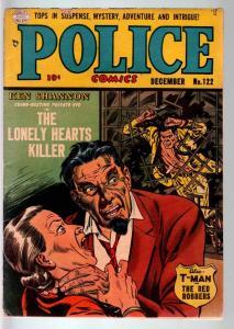 POLICE COMICS #122-COSTUMED VILLAIN STORY!-REED CRANDAL STRANGULATION CVR-VG VG
