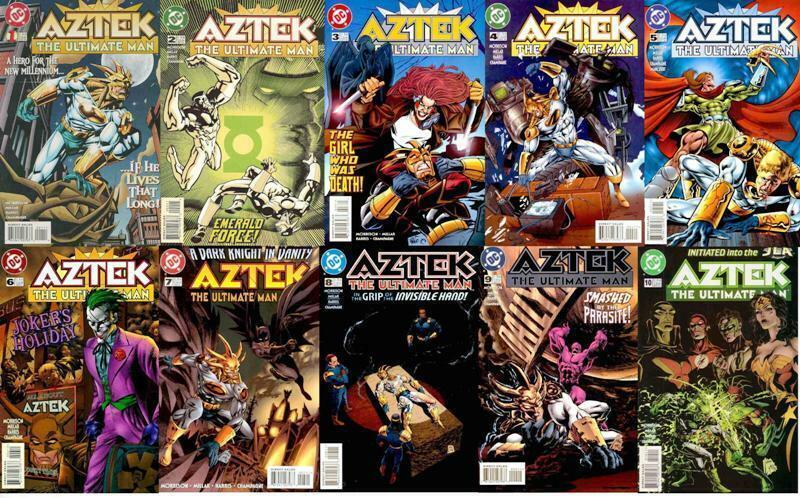 AZTEK (1996) 1-10 GRANT MORRISON early classic COMPLETE