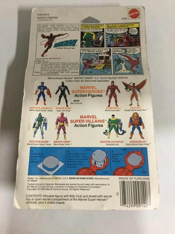 Marvel Super Heroes Secret Wars Daredevil Mettel Yellowed Plastic