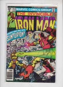 IRON MAN V1 #143 1980 MARVEL / NEWSSTAND /  SEE PICTURE