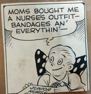 MYRTLE Original Comic Strip Art by CARL ED (8 panel lot)