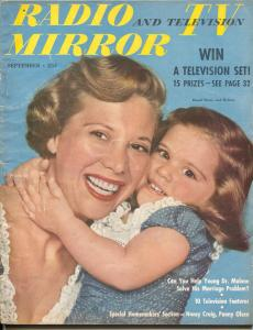 Radio And Television Mirror-Dinah Shore-Art Linkletter-Sept-1950