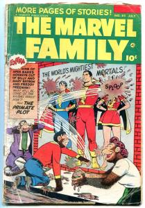 The Marvel Family  #85-1953-Golden Age-MONKEYS THROWING MUD-fr