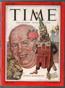 Time 4/30/1956-Nikita Khrushchev cover-historic info-VG