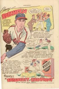 DC Real Screen Comics #14 (1947) VG- 3.5  Harry Brecheen (Cardinals) ad