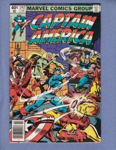 Captain America #242 VG/FN Manipulator Appearance Marvel 1980