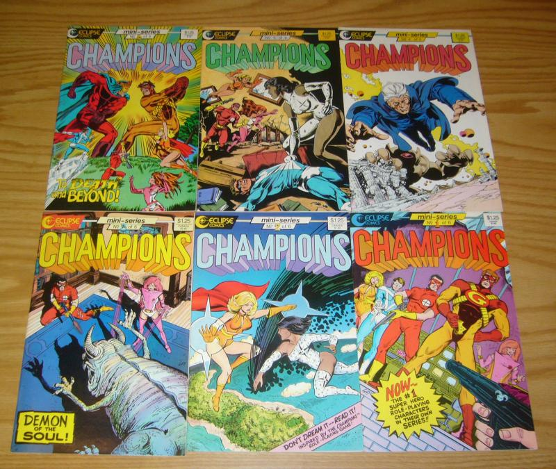 Champions #1-6 VF/NM complete series based on RPG series eclipse comics 2 3 4 5