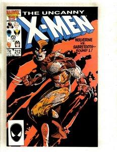Uncanny X-Men # 212 NM Marvel Comic Book Wolverine Sabretooth Storm Beast HJ9