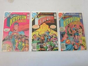 Superman Krypton Chronicles Set #1-3 8.0 VF (1981)