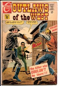 Outlaws Of The West #72 1968-Charlton-Capt Doom-Kid Montana-G/VG