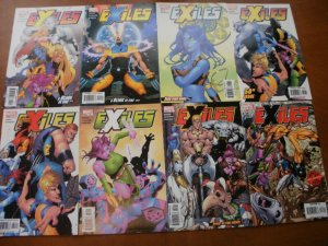 8 Marvel EXILES Comic #44 45 48 50 51 52 55 73 (Blink Time Earn Wings Bump Night