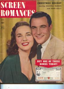 Screen Romances-Gene Kelly-Dorothy Lamour-Roy Rogers-Ingrid Bergman-July-1944