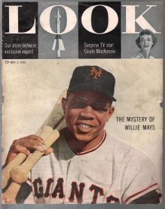 Look 5/3/1955-Willie Mays-atomic defense-Jo Stafford-Gisele Mackenzie-FR