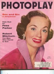 Photoplay-Ann Blyth-Robert Mitchum-Burt Lancaster-Jeanne Crain-Jan-1956