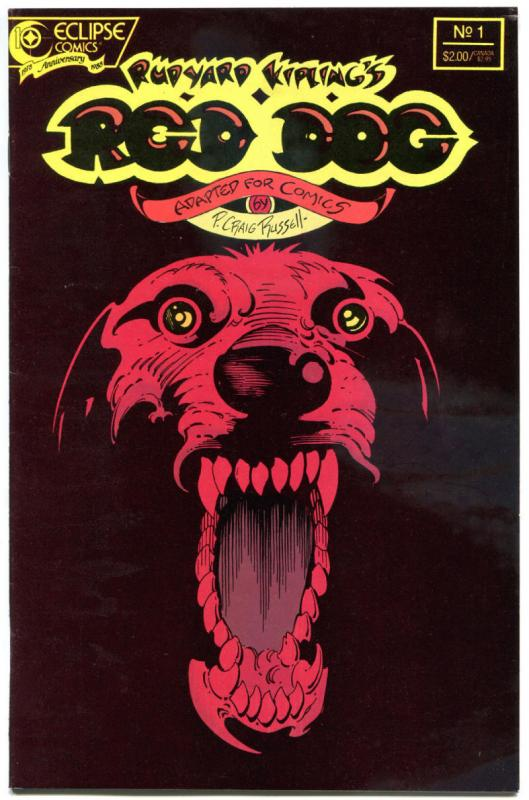 RED DOG #1, VF, Rudyard Kipling, Craig Russell, Eclipse, 1988