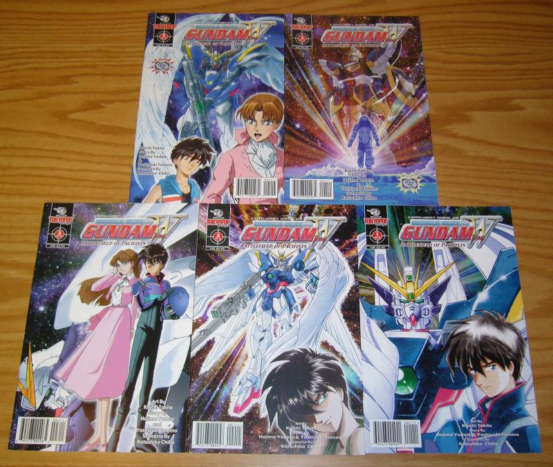 Mobile Suit Gundam Wing: Battlefield of Pacifists #1-5 VF/NM complete series set