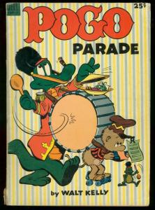 POGO PARADE DELL GIANT 1953-WALT KELLY ART-ANIMAL COMIC VG