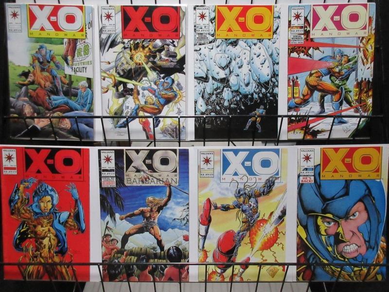 X O MANOWAR 17-24 ARMORED SUPERHERO ADVENTURETHE SET!