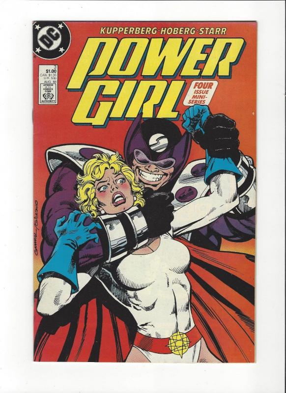 POWER GIRL #3 1988 DC JSA COPPER AGE COMIC  NM