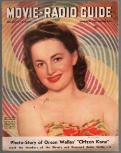 Movie-Radio Guide 3/8/1941-Olivia De Havilland-Oraon Welles-Blondie-VG