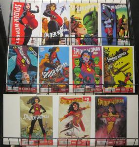 Spider-Woman (Marvel 2016) #1-9 Jessica Drew Super-Spy Heroine Expectant Mother