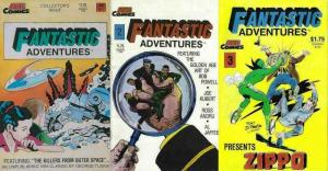 FANTASTIC ADVENTURES (ACE) 1-3  Tuska, Kubert, Andru