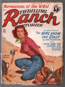 Thrilling Ranch Stories-Fall 1950-Louis L'Amour story-GGA cover-VG