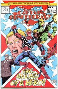 CAPTAIN CONFEDERACY #1 2 3 VF/NM, 4 VF+, Vince Stone, 1986, Heroes, 1-4