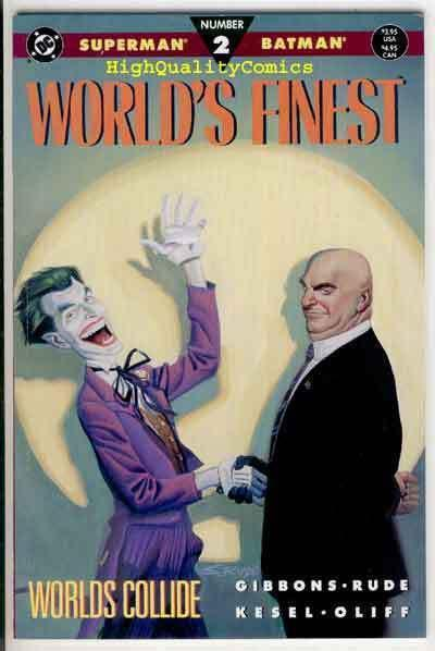 WORLD'S FINEST #2, NM+, Superman, Batman, Lex Luthor, 1990, more in store