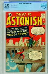 TALES TO ASTONISH #42 CBCS 5.0 1963-ANT-MAN-KIRBY-SILVER AGE-MARVEL