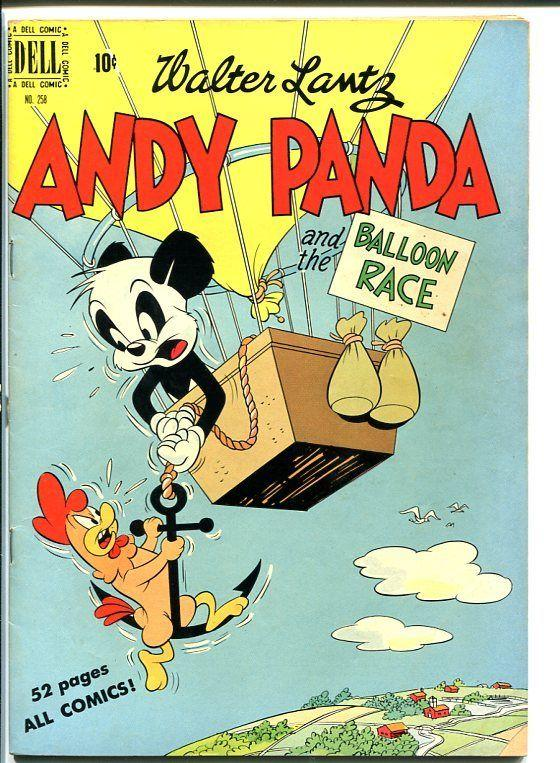 ANDY PANDA #258-Four Color-HOT AIR BALLOON cover! VG+