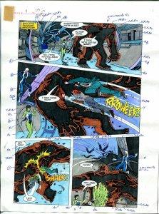 Elementals #9 Page #25 Original Color Guide Ken Feduniewicz