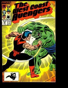 11 West Coast Avengers Marvel Comics # 25 26 27 28 29 30 31 32 33 34 35 GK6
