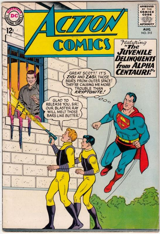 Action Comics #315 (Aug-64) VF+ High-Grade Superman, Supergirl