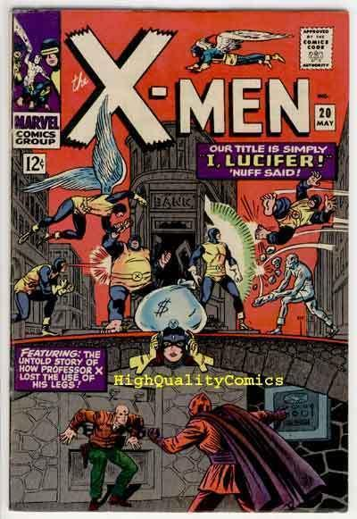 X-MEN #20, VF, Lucifer, Professor X's Legs Loss, 1963, more in store