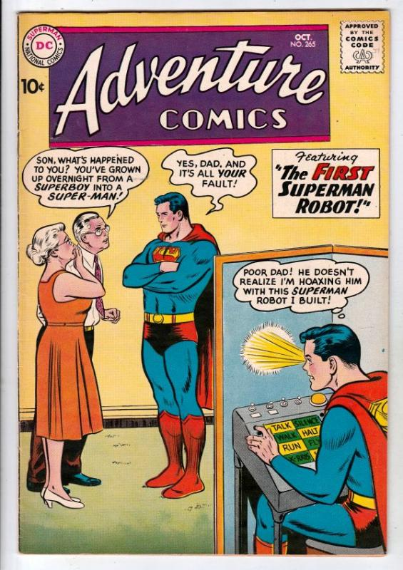 Adventure Comics #265 (Oct-59) VF+ High-Grade Superboy, Green Arrow, Aquaman