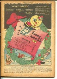 Funny Animals #2 1943-2nd Captain Marvel Bunny-WWII era humor-Christmas-Santa-P