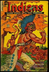 Indians #8 1951- Fiction House- Long Bow- Manzar- Bob Powell G
