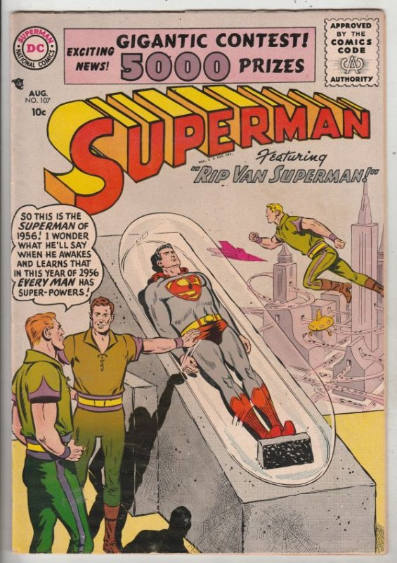 Superman #107 (Aug-56) VF+ High-Grade Superman, Lois Lane