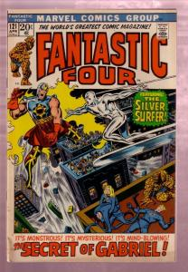 FANTASTIC FOUR #121 1972- THE SILVER SURFER-HUMAN TORCH FN