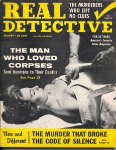Real Detective 8/1958-Hillman-dope-prison murder-pulp crime-swami-FN-
