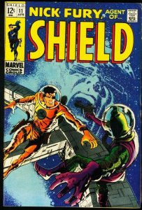 NICK FURY, AGENT OF SHIELD #11-MARVEL-SMITH COVER ART FN
