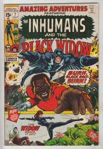 Amazing Adventures #7 (Jan-71) FN/VF Mid-High-Grade Black Widow, Inhumans