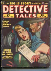 DETECTIVE TALES 05/1949-POPULAR PUBS-STRANGULATION-CRIME-PULP-MACDONALD-good