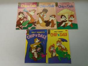 Chip 'n' Dale Disney comic lot 10 different issues (1967) 5.0 VG/FN