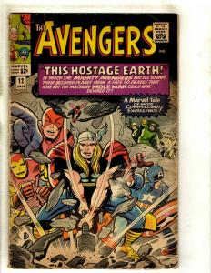 The Avengers # 12 VG- Marvel Comic Book Iron Man Thor Captain America Hulk RS1