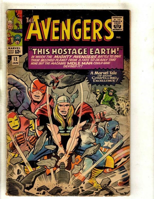The Avengers # 12 VG- Marvel Comic Book Iron Man Thor Captain America Hulk RS1