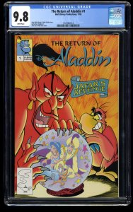 The Return of Aladdin #1 CGC NM/M 9.8 White Pages