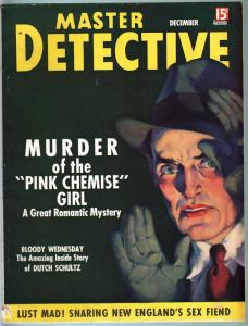 MASTER DETECTIVE DEC 1936-VG-MURDER IN THE SUBWAY-TRUE CRIME MAG VG