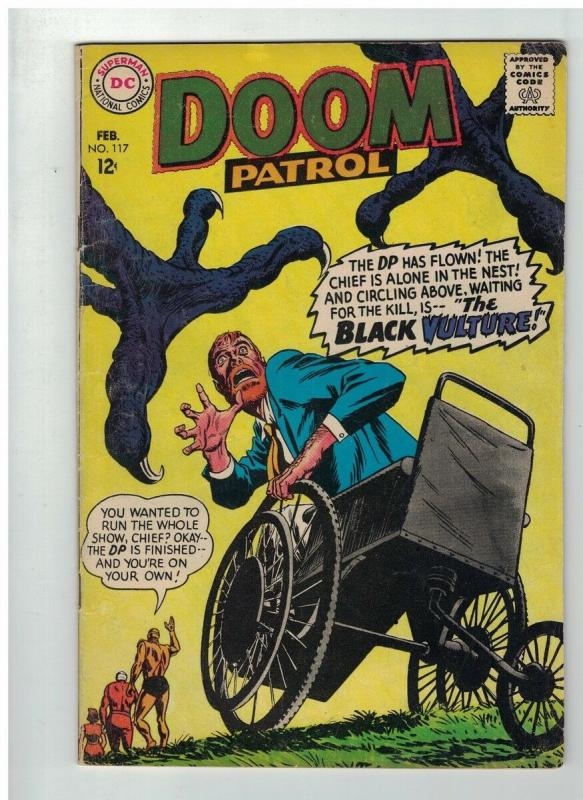 DOOM PATROL 117 VG   February 1968 COMICS BOOK